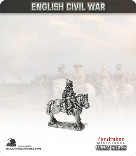 10mm English Civil War: Mounted Officers in Helmet