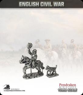 10mm English Civil War: Prince Rupert with dog
