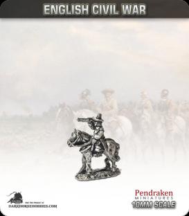 10mm English Civil War: Mounted General (type 2)