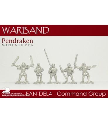 10mm Fantasy Dark Elves: Command Group