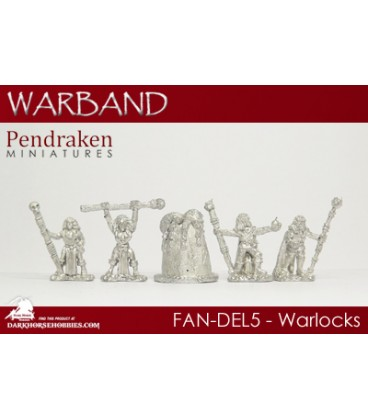 10mm Fantasy Dark Elves: Warlocks with Runestone