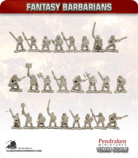 10mm Fantasy Barbarians: Assorted Warriors