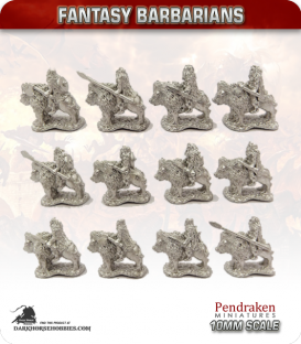 10mm Fantasy Barbarians: Bison Riders