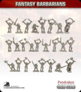 10mm Fantasy Barbarians: Berserkers