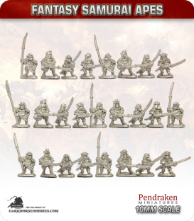 10mm Fantasy Samurai Apes: Warriors
