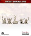 10mm Fantasy Samurai Apes: Shamans with Runestone