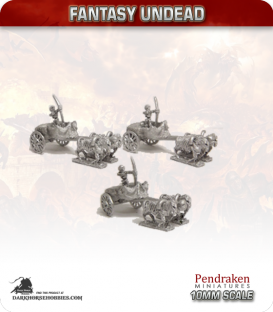 10mm Fantasy Undead: Chariots with Riders
