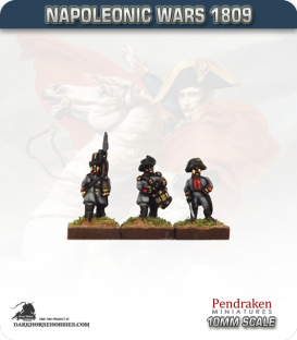 10mm Napoleonic Wars (1809): Austrian Landwehr (with command)