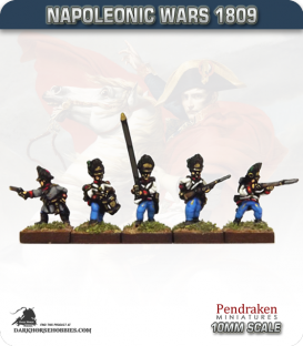 10mm Napoleonic Wars (1809): Hungarian Grenadier (with command) - Firing