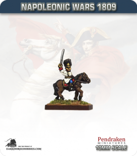 10mm Napoleonic Wars (1809): Hungarian Grenadier Mounted Officers
