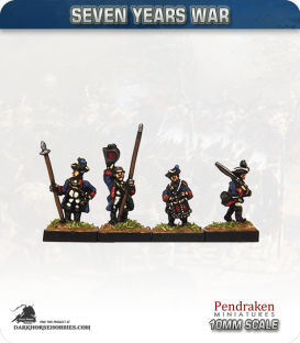 10mm Seven Years War: Hanoverian Tricorn Foot - Marching