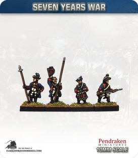 10mm Seven Years War: Hanoverian Tricorn Foot - Advancing