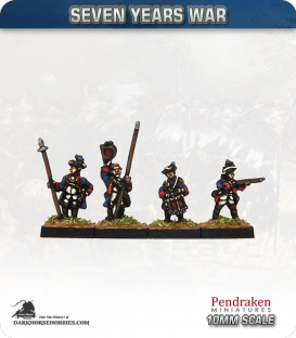 10mm Seven Years War: Hanoverian Tricorn Foot - Firing