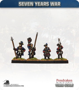 10mm Seven Years War: Hanoverian Tricorn Foot - Port Musket