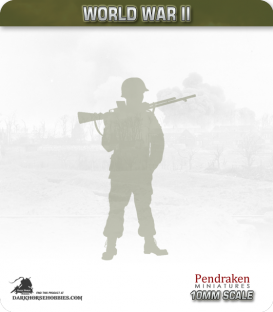 10mm World War II: American - D-Day Paratroopers with Rifle