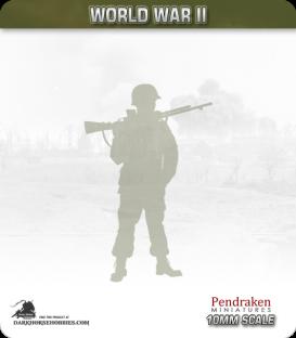 10mm World War II: American - D-Day Paratrooper .30cal Teams pack
