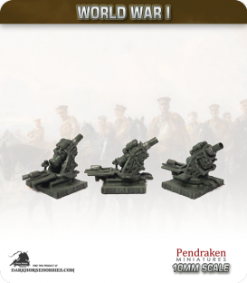 10mm World War I: Austro-Hungarian Skoda 30.5cm Morser M11 Gun with Crew