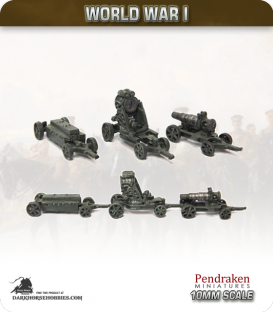 10mm World War I: Austro-Hungarian Skoda 30.5cm Morser M11 Gun with Trailers