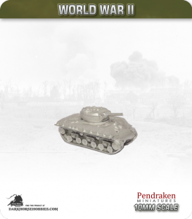 10mm World War II: American - M4A3 Sherman tank w/ late HVSS - 105mm