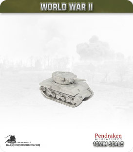 10mm World War II: American - M4A3E2 Sherman Jumbo Tank - 75mm