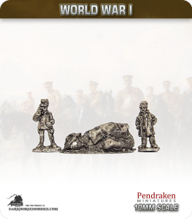 10mm World War I: Belgian Generals with Map pack