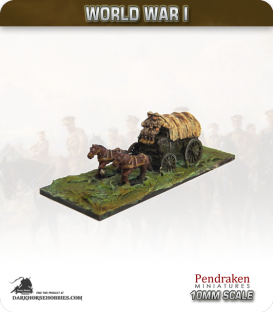 10mm World War I: British General Service Wagon (late-war crew)