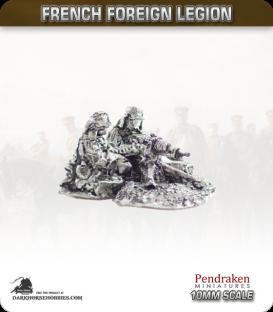10mm French Foreign Legion: Hotchkiss HMG Teams