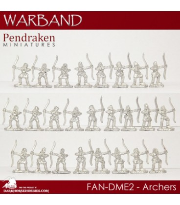10mm Fantasy Dragonmen: Archers