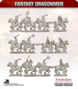 10mm Fantasy Dragonmen: Mounted Knights
