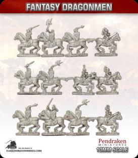 10mm Fantasy Dragonmen: Mounted Knights