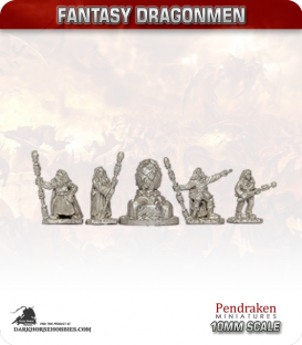 10mm Fantasy Dragonmen: Wizard Priests with Dragon Egg