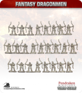 10mm Fantasy Dragonmen: Archers-at-Arms
