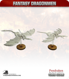 10mm Fantasy Dragonmen: Dragons with Knights