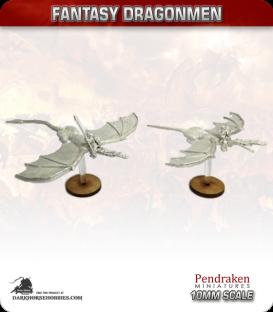 10mm Fantasy Dragonmen: Dragons with Knights