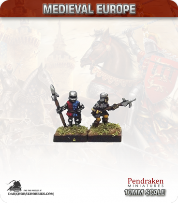 10mm European Late Medieval: Retinue Billmen