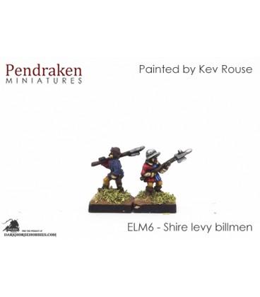 10mm European Late Medieval: Shire Levy Billmen