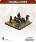 10mm European Late Medieval: Medium Gun with Crew and Braziers
