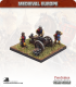 10mm Medieval (Late European): Medium Gun with Crew and Braziers