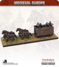 10mm European Late Medieval: Hussite War Wagon (with 4 horses and shooters)