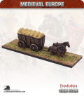 10mm European Late Medieval: Covered Wagon with Horses