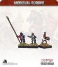 10mm European Late Medieval: Foot Command with Drummers
