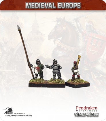 10mm European Late Medieval: Foot Command with Pipers