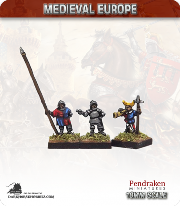 10mm European Late Medieval: Foot Command with Swiss Horns