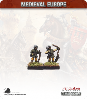 10mm European Late Medieval: Archers with Short Bow (venetian/burgundian style)