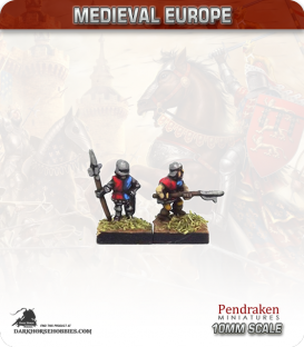 10mm European Late Medieval: Retinue Billmen in Surcoats