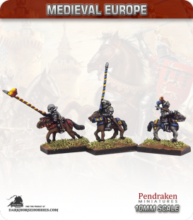 10mm European Late Medieval: Mounted Knights (unbarded horses)