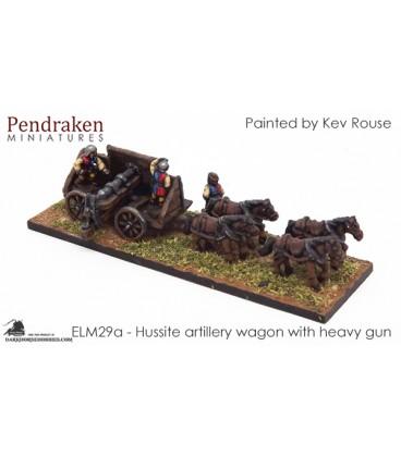 10mm European Late Medieval: Hussite Artillery Wagon (heavy gun / crew)