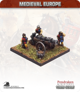 10mm European Late Medieval: Heavy Gun with Crew