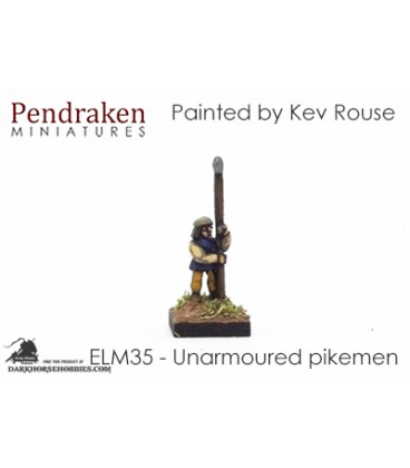 10mm European Late Medieval: Pikemen (unarmoured)