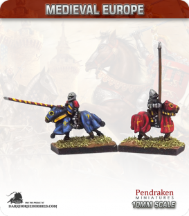 10mm European Late Medieval: Mounted 14th Century Knights